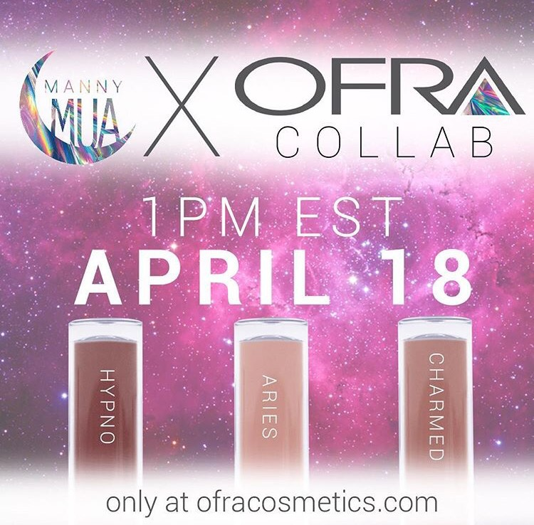 Mannymua x Ofra Cosmetics: Releases April 18 10am pst 1pm est