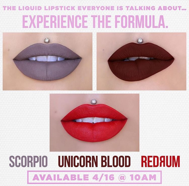 Jeffree Star Scorpio , Unicorn Blood, and Reddrum