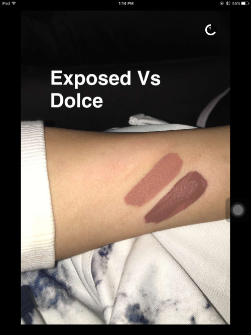 Kylie Cosmetics Exposed Swatch
