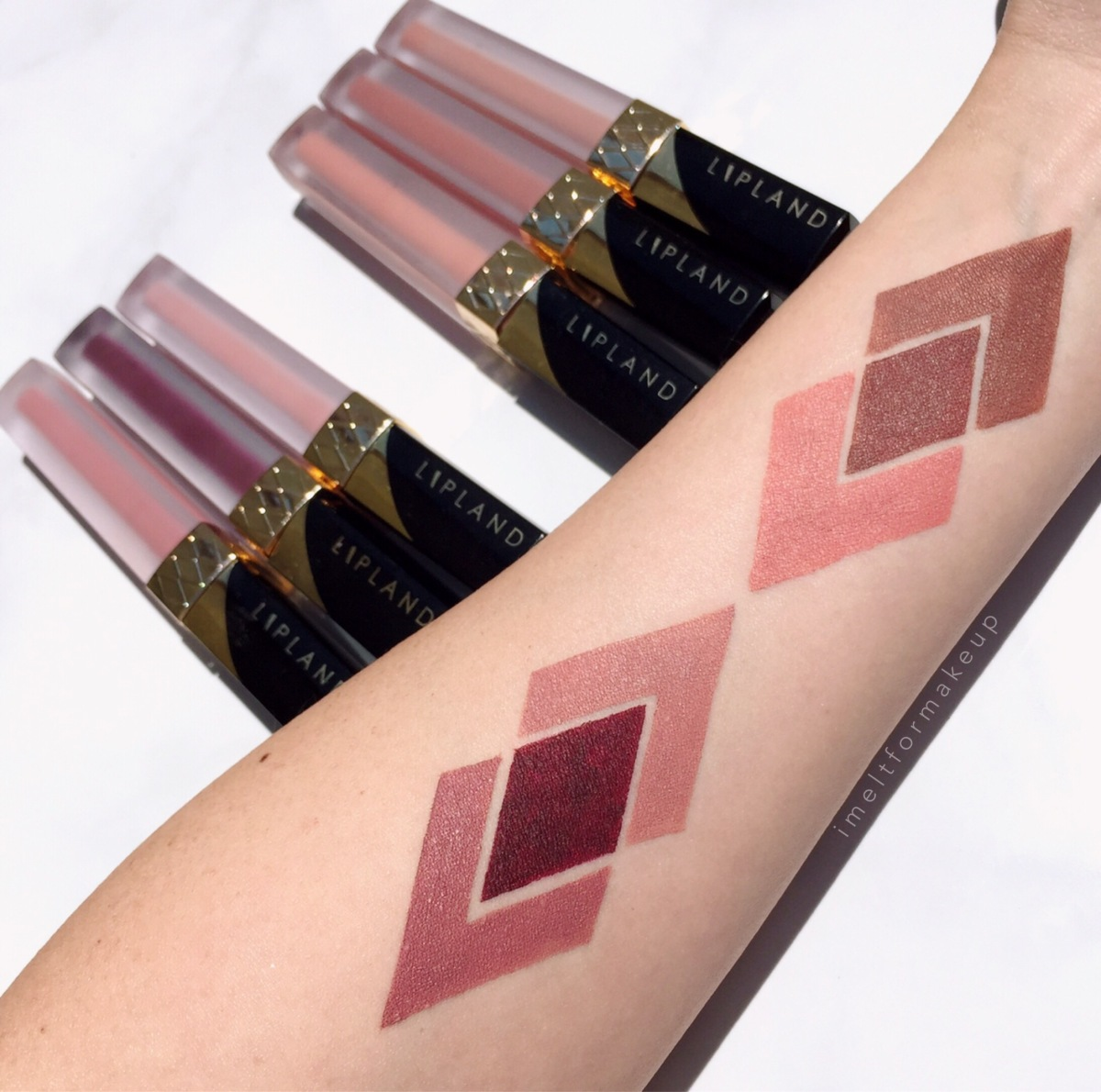 Lipland Cosmetics Liquid Lipstick Review & Swatches